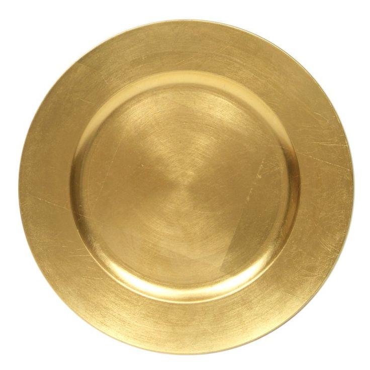 Platzteller RUND – GOLD Ø 33 cm (Miete)   – Wedding – Rosegold