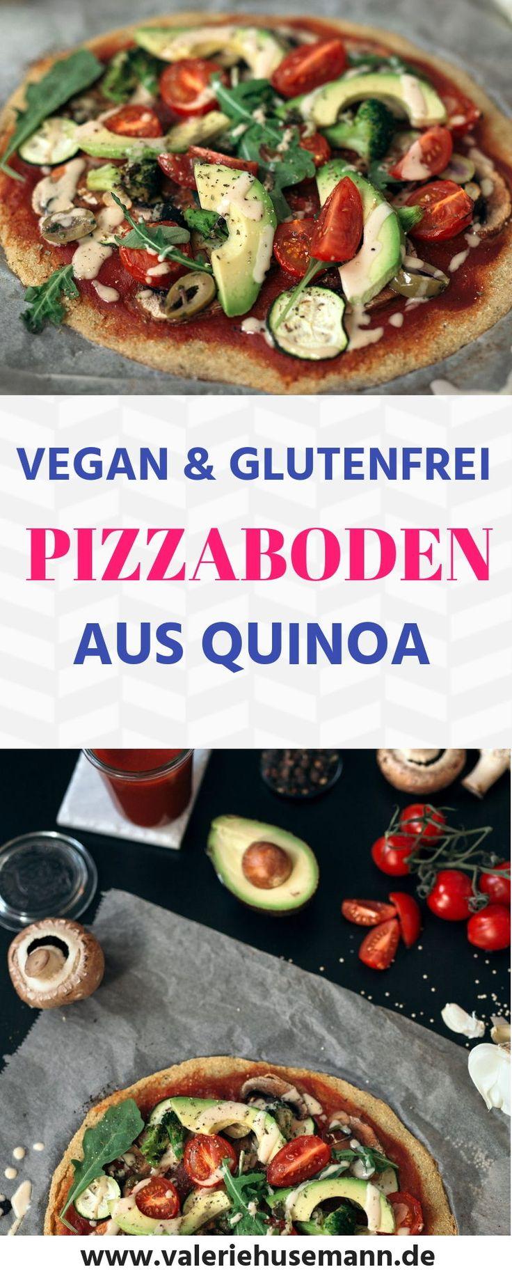 Quinoa pizza topping, vegan, sem glúten, receitas vegan alemão, receitas veganas com …