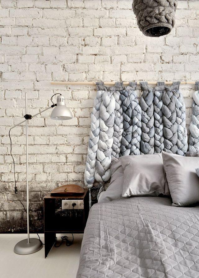 Une tête de lit en tissus tressés pour relooker sa chambre, bonne astuce ! #têtedelit #chambre #DIY