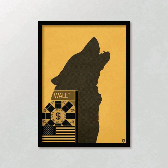 The Wolf of Wall Street A2 Poster by holdonprints on Etsy