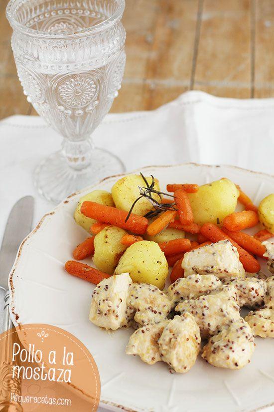 Pollo a la mostaza, una receta de pollo riquísima