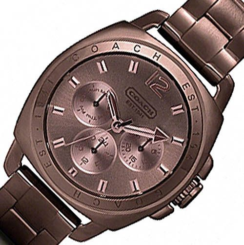Discount Coach Watches for Women | ... Brown COACH Stainless Boyfriend Chronograph Womens Watch #14501462