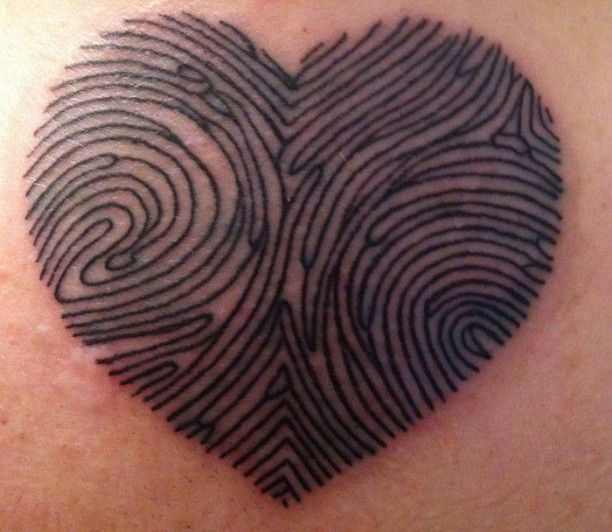 Herz Fingerabdruck Tattoo - mom and dad finger prints