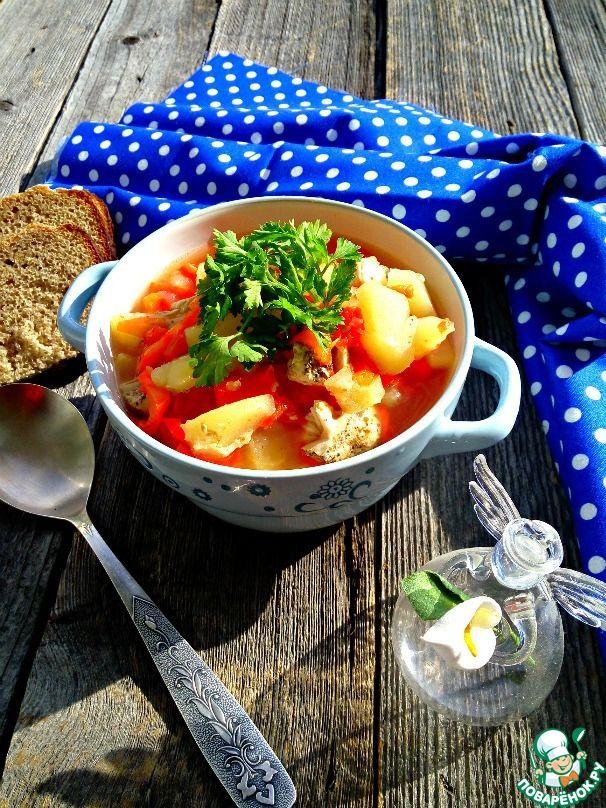 Нежный суп-гуляш из куриного филе ингредиенты