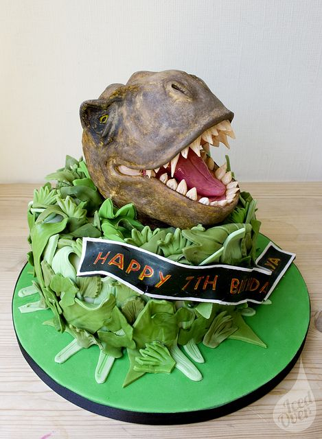 Jurassic T-Rex! Raaaaaaaaaaaaaa! by Iced Over Cakes, via Flickr