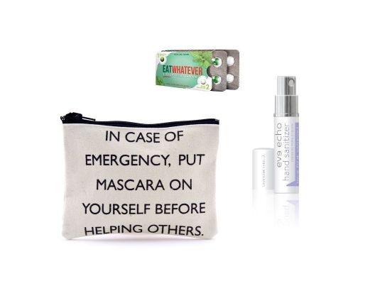 Breath Mints, Hand Sanitizer, & Makeup Bag /// Funny!
