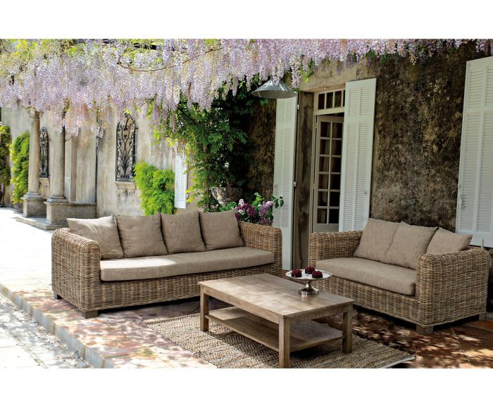 Terrassenmöbel polyrattan hell  En iyi 17 fikir, Gartensofa Rattan Pinterest'te | Rattan couch ...