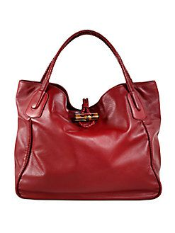 Gucci - Hip Bamboo Deer Leather Tote