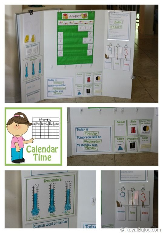 "FREE Calendar Board Learning Printables. I would like to adapt this from the Saxon ""Meeting"" book portion of the math lesson. I like the use of hooks and rings too."