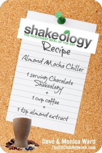 ALMOND MOCHA CHILLER (A favorite Chocolate Shakeology recipe). LIKE if you love it too! | http://www.thefitclubnetwork.com/2014/02/favorite-shakeology-recipes/