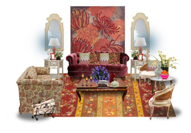 Modern Romantic by wasupfirefairy on Polyvore featuring interior, interiors, interior design, home, home decor, interior decorating, Ethan Allen, Cyan Design, Pier 1 Imports and Brentwood Originals