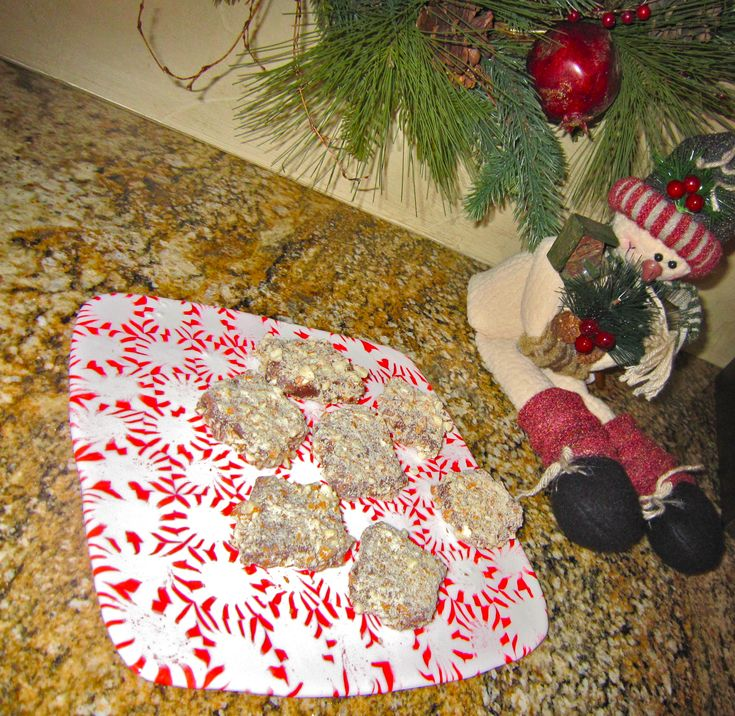 Peppermint serving tray