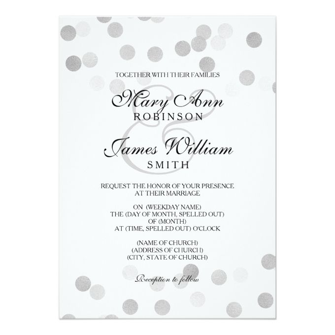 Spelling out years wedding invitations