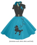 Turquoise Poodle Skirt Outfit. I would love to have this!