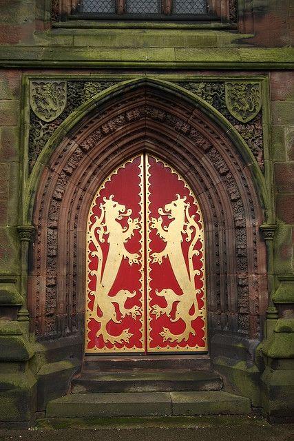 Lionheart Doorway, St. Giles, Staffordshire, England