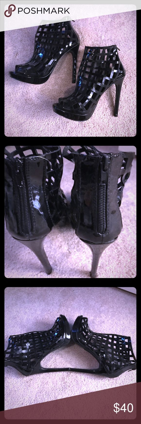 Shoe dazzle Caged Booties Shoe-dazzle Caged Booties Brand New Never Worn Black In Color Shoe Dazzle Shoes Ankle Boots & Booties