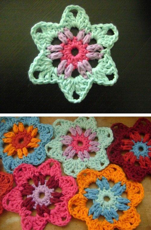 Free Crochet Pattern Granny Star : 249 best Crochet Granny Square Patterns & Motifs images on ...