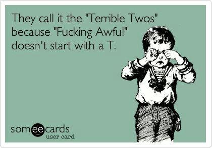 My 5 yo still havn her terrible two s! Lol!