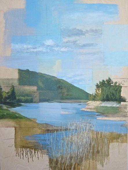Ryan M. Reynolds, landscape painting time reservoir oil artist art place-based