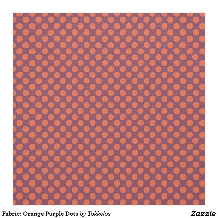 Fabric: Orange Purple Dots