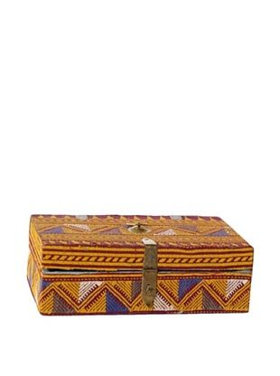 56% OFF Rectangle Fabric & Bead Covered Box, Multi