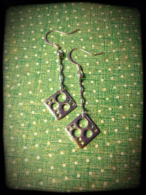 Outer-Space Inspired Silver Drop Earrings on Etsy, $18.00 CAD