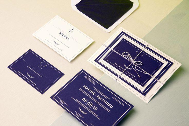 Au coeur des huit ateliers de l'Imprimerie du Marais, La Belle Histoire propose des faire-part sur-mesure et offre son savoir-faire pour toutes vos invitations. #graphique #fairepart #luxe #Imprimeriedumarais #labellehistoire #surmesure #mariage #wedding #invitation