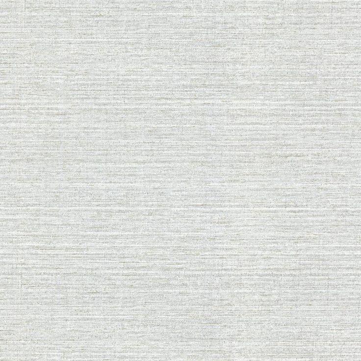 Warner Madison Grey Faux Grasscloth Grey Wallpaper Sample