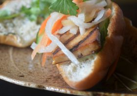 Lemongrass Tofu Bahn Mi Sandwiches #MeatlessMonday