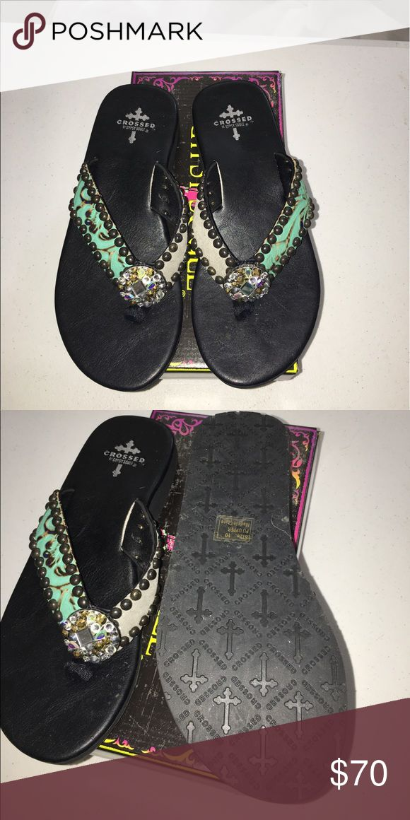 Gypsy Soule flip flops sandals brand new Brand new in the box Gypsy Soule flip flops size 9. They are marked a 10 but just like all Gypsy Soule shoes, they fit a size down better. I am a true 9 and they fit me gypsy soule Shoes Sandals