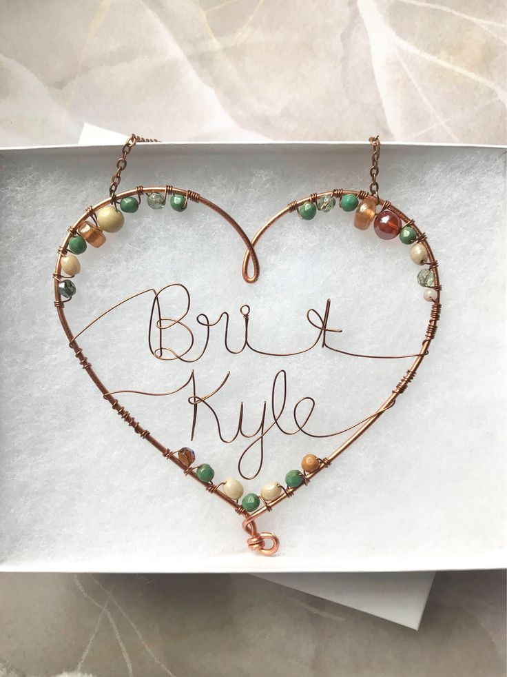 Copper Heart Decoration 7th Anniversary Gift Copper Wedding 7 Year Anniversary Custom Copper Anniversary Decor Hanging Heart Personalized by HazelCharm on Etsy https://www.etsy.com/listing/581648664/copper-heart-decoration-7th-anniversary