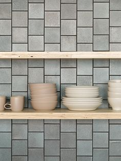 Tiles off-set vertically