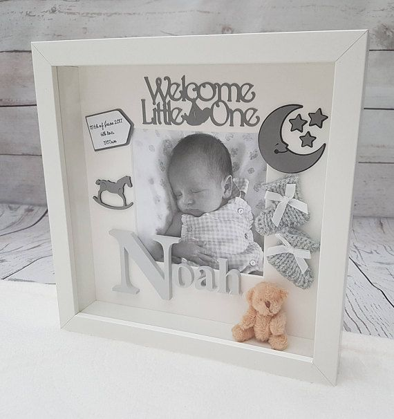 Welcome. We would like to offer lovely personalised baby frames. They are made to order. As a background optionally: - b&w photo - photo turned into drawing - piece of fabric Date, time and baby weight can be added as well. Instead of baby name we can put Baby Girl or Baby Boy.