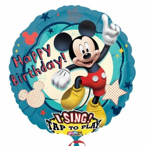 Muziekballon Happy Birthday Mickey Mouse