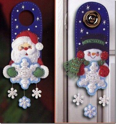 adornos de navidad para puertas y ventanas