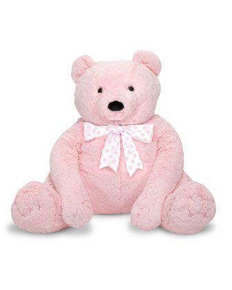 Jumbo+Teddy+Bear,+Light+Pink+by+Melissa+&+Doug+at+Neiman+Marcus.