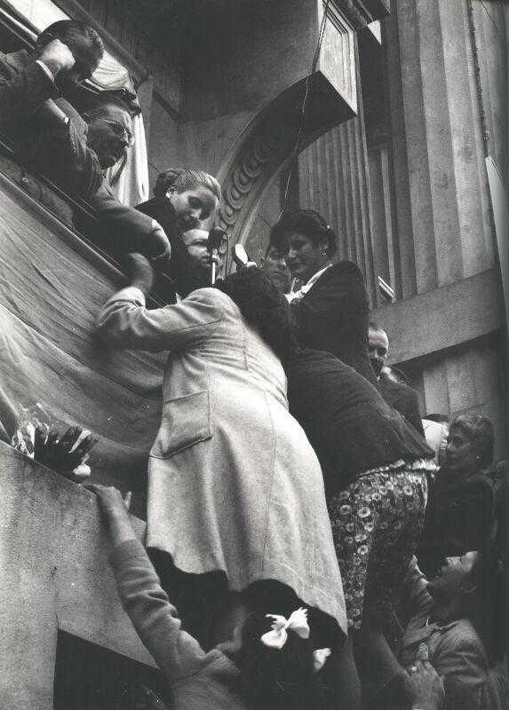 Foto original de Evita en Rosario, 30 de setiembre de 1948