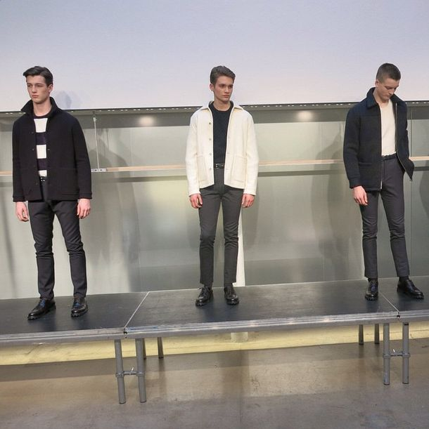 """The importance of glamour in times of war."" APC Paris F/W 15 men's presentation"