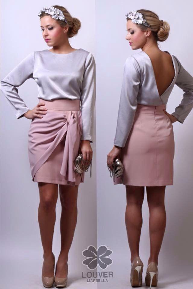 Look de lo más romántico!! Compuesto por nuestra falda Fiona y blusa Beatriz con escote en espalda. Disponible en nuestro showroom!!