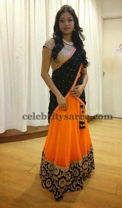 Floral Half Saree by Deepshika | Saree Blouse Patterns