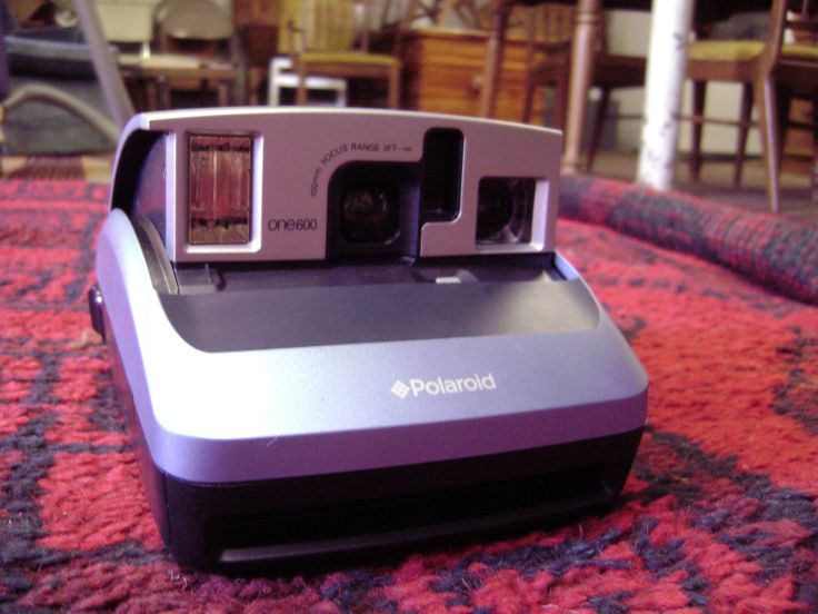 Polaroid One 600 Instant Camera Blue Black Silver Use by TFSloan, $18.00