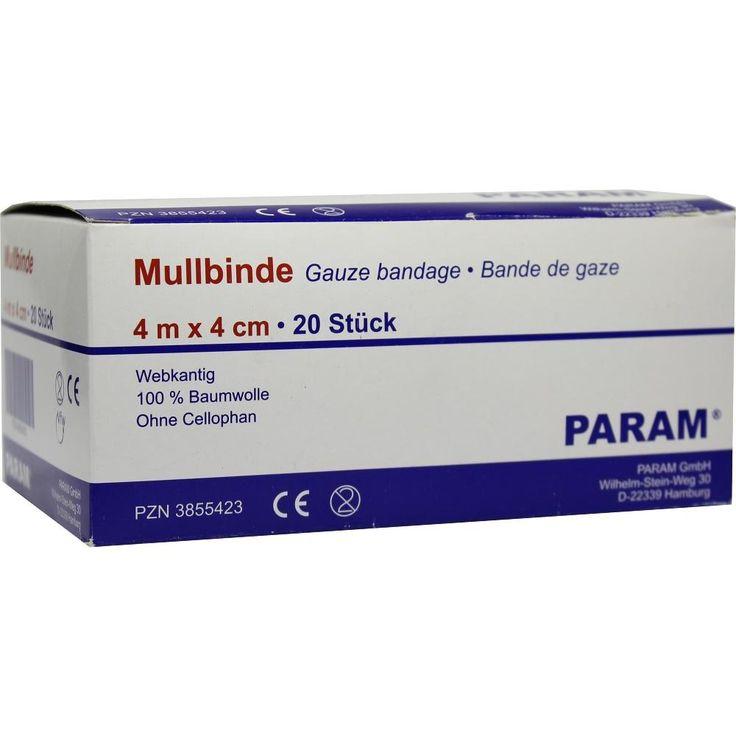 MULLBINDEN 4 cm o.Cellophan:   Packungsinhalt: 20 St Binden PZN: 03855423 Hersteller: Param GmbH Preis: 3,91 EUR inkl. 19 % MwSt. zzgl.…