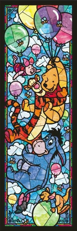 Vitral turma do Pooh