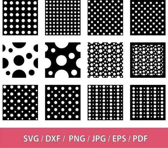 Polka Dots Pattern Stencil Svg Dxf Png Eps Pdf Jpg Polka Etsy Polka Dot Background Polka Dot Pattern Svg