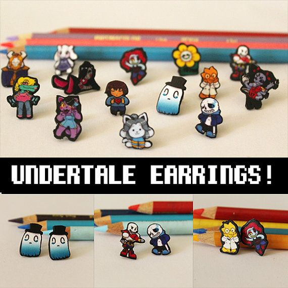 Undertale Earrings by CutePandaCo on Etsy (Grandma, I want Nabstablook)