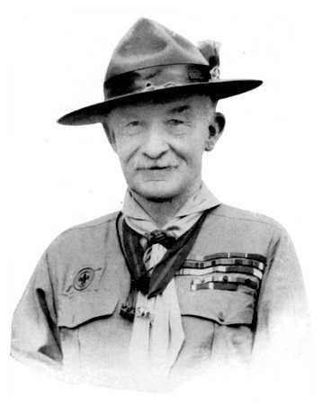 Lord B. Powell.  Read his farewell letter to scouts everywhere.  There is a man who loves children.