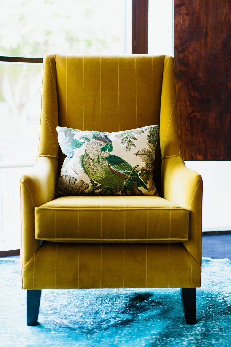 This beautiful #Mustard armchair is on-trend for Spring