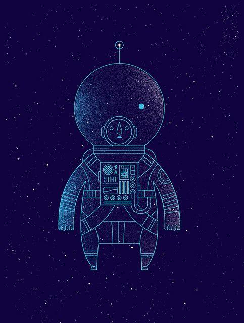 The Traveler | Illustrator: Richard Perez - http://skinnyships.com | Prints available here - http://helpink.org/product/the-traveler