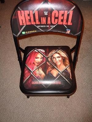 WWE HELL IN A CELL PPV RINGSIDE CHAIR WWF CHARLOTTE SASHA MEMORABILIA LANE