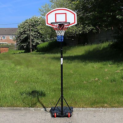 Free ##standing basketball net hoop #backboard with adjustable #stand set on wheel,  View more on the LINK: http://www.zeppy.io/product/gb/2/281677511700/